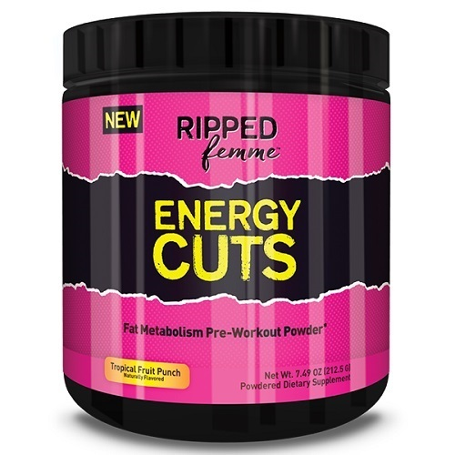 Ripped Femme Energy Cuts Pre-Workout - Fruit Punch (25 Serves) image
