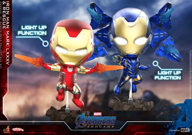 Avengers: Endgame - Iron Man Mark & Rescue (Light Up) Cosbaby Figure Set