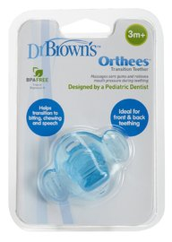 Dr Brown's Orthees Transition Teether (Blue)