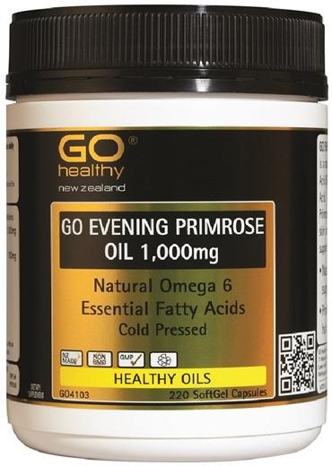 Go Healthy: GO Evening Primrose Oil 1000mg (220 Capsules)