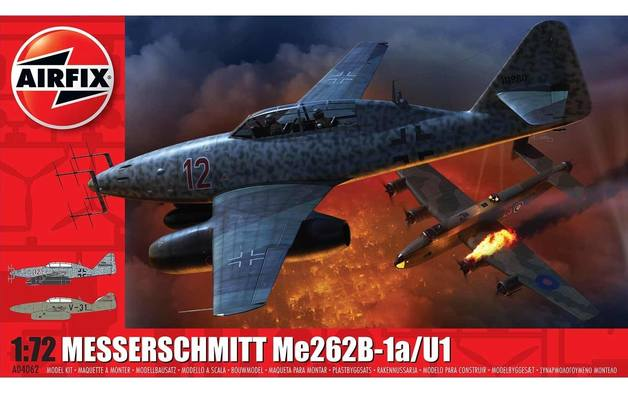 Airfix 1:72 Messerschmitt Me262B-1a/U1 Scale Model Kit