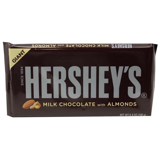 Hersheys Giant Milk Chocolate Bar Almond 192g