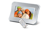 GENIUS PF-701 DIGITAL PHOTO FRAME - SLVR