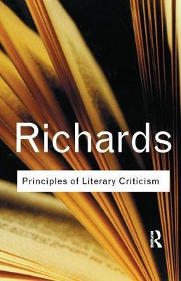 Principles of Literary Criticism by I.A. Richards image