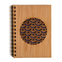 Cardtorial Wooden Journal - Scallop Circle