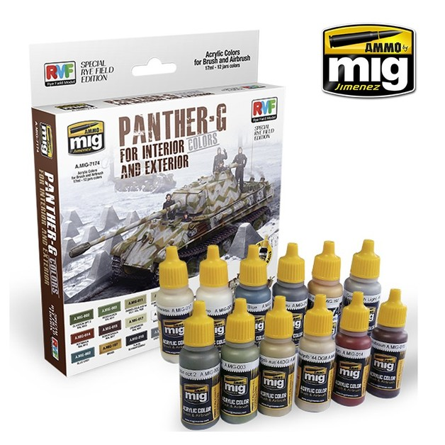 Ammo of Mig Jimenez - Panther-G Colors Set for Interior and Exterior Set