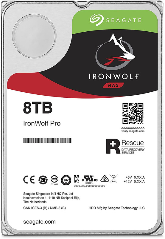 "8TB Seagate IronWolf Pro 3.5"" 7200RPM SATA NAS HDD"