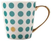 Maxwell & Williams Aurora Mug Gold Handle 300ML Spot Green
