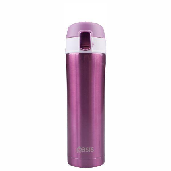 Oasis Flip-Top Vacuum Flask - Blush (420ml)