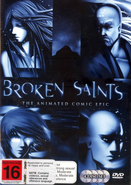 Broken Saints - The Animated Comic Epic (4 Disc Set) on DVD image