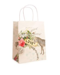 Papaya Gift Bag - Love Zebra