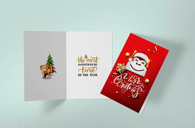 Gorilla Gift: Christmas Cards - Santa Hat (Pack of 10)
