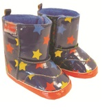 Hi-Hop Star Rainboots (18-24 Months) - Blue/Multi