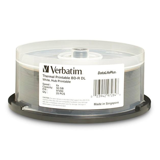 Verbatim BD-R DL 50GB Spindle White WideThermal 6x (25 Pack)