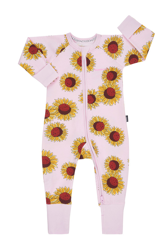 Bonds: Zip Wondersuit Long Sleeve - Sunflower Power Pink (6-12 Months)