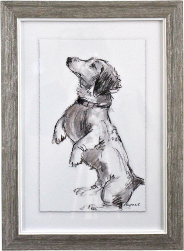 LaVida: Framed Puppy Drawing 3