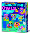 4M: Craft Mould n Paint - Glow Owls