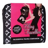 Bling Traveller - Black with White Diamonds
