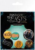 Fantastic Beasts Pin Badges (Mix, 6-Pack)