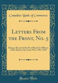 Letters from the Front, No. 5 by Canadian Bank of Commerce