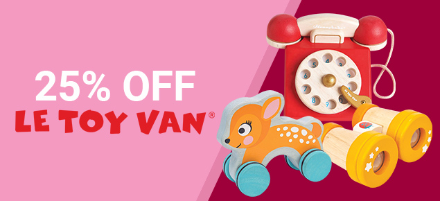 25% off select Le Toy Van!