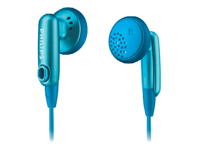 Philips SHE2617 Blue Gummy Headphones for Ipod image