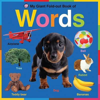 My Giant Fold-Out Book of Words by Roger Priddy image