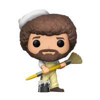The Joy of Painting - Bob Ross (with Paintbrush) Pop! Vinyl Figure image