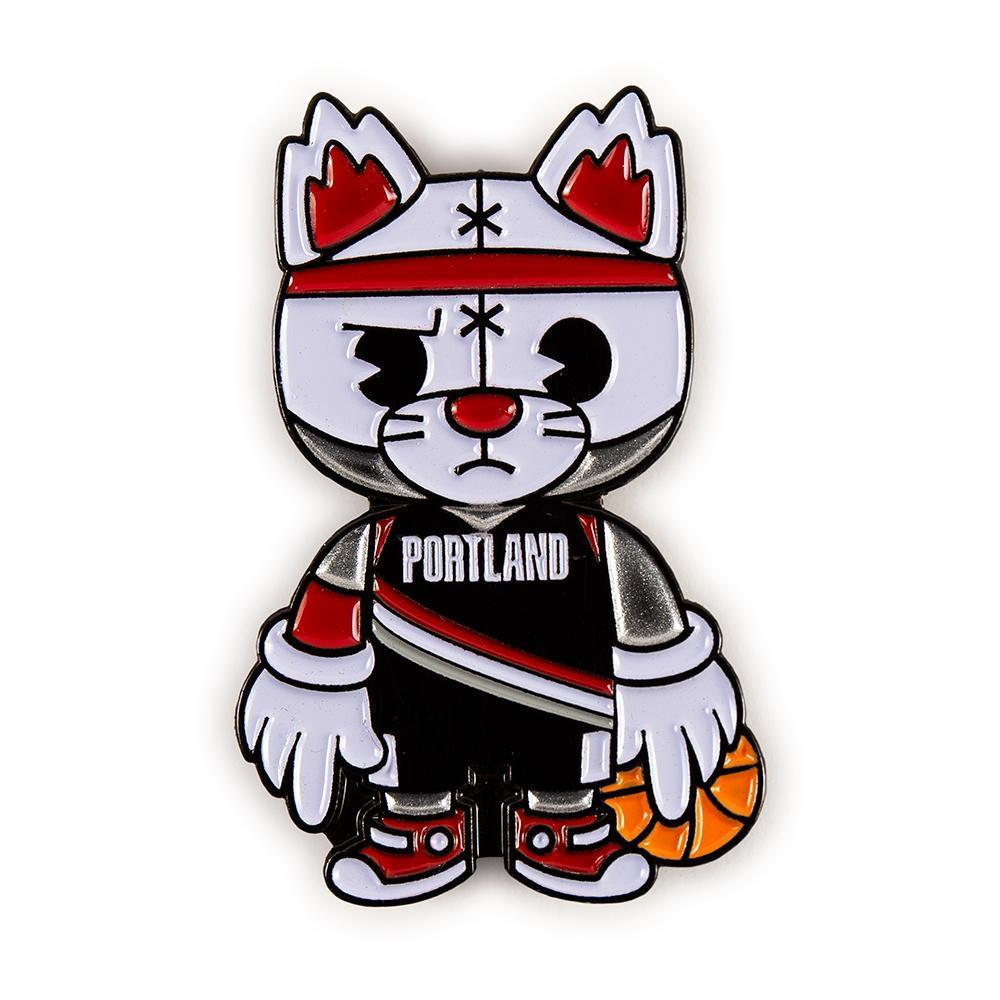 NBA: Portland Trailblazers - Blaze Mascot Enamel Pin image