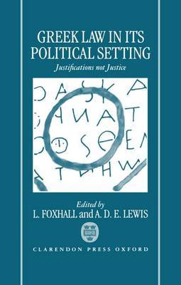 Greek Law in Its Political Setting