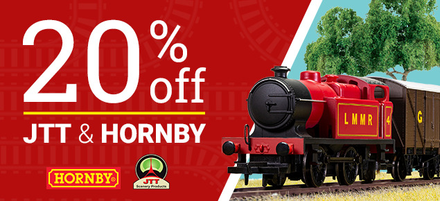 20% off JTT and Hornby!