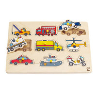 Hape: Emergency Vehicles Peg Puzzle