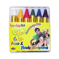 Lucky Art Face and Body Crayons 6 Pack