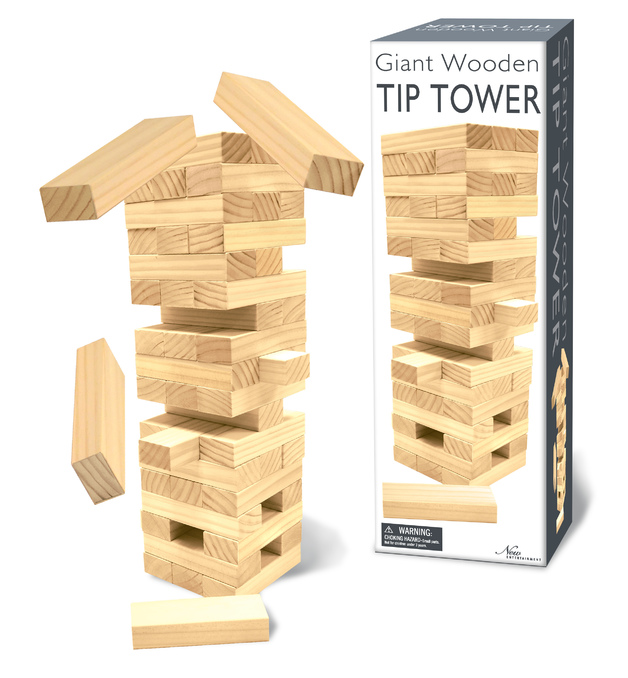 Giant Wooden Tip Tower - Board Game