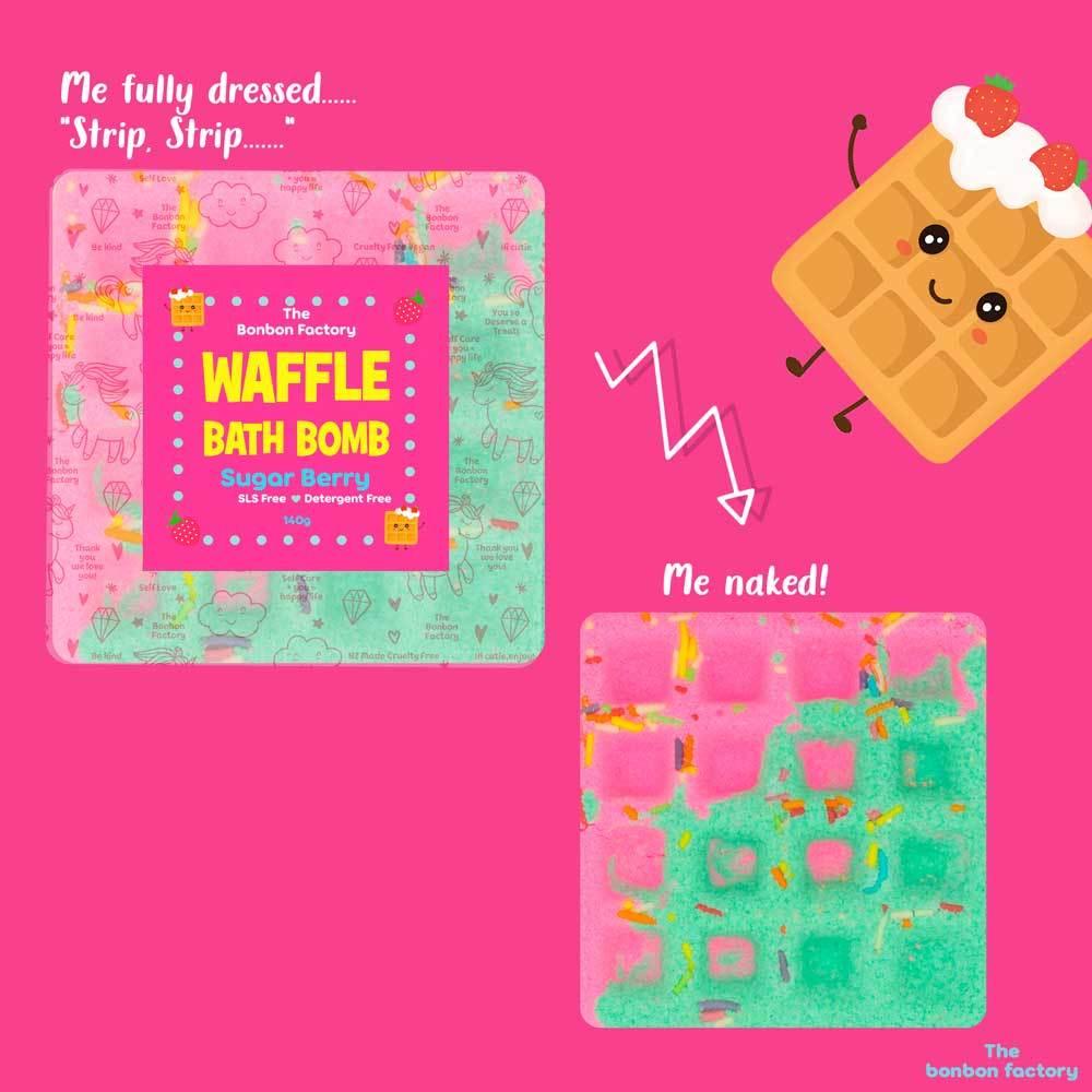 The Bonbon Factory Sugar Berry Waffle Bath Bomb image