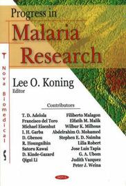 Progress in Malaria Research image