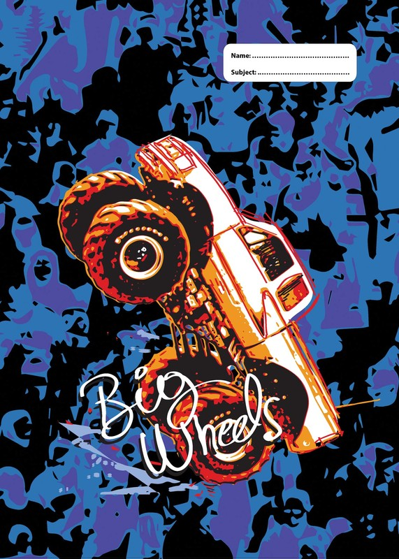 Spencil: Big Wheels Scrapbook Size Book Cover - Assorted (Pack 3)