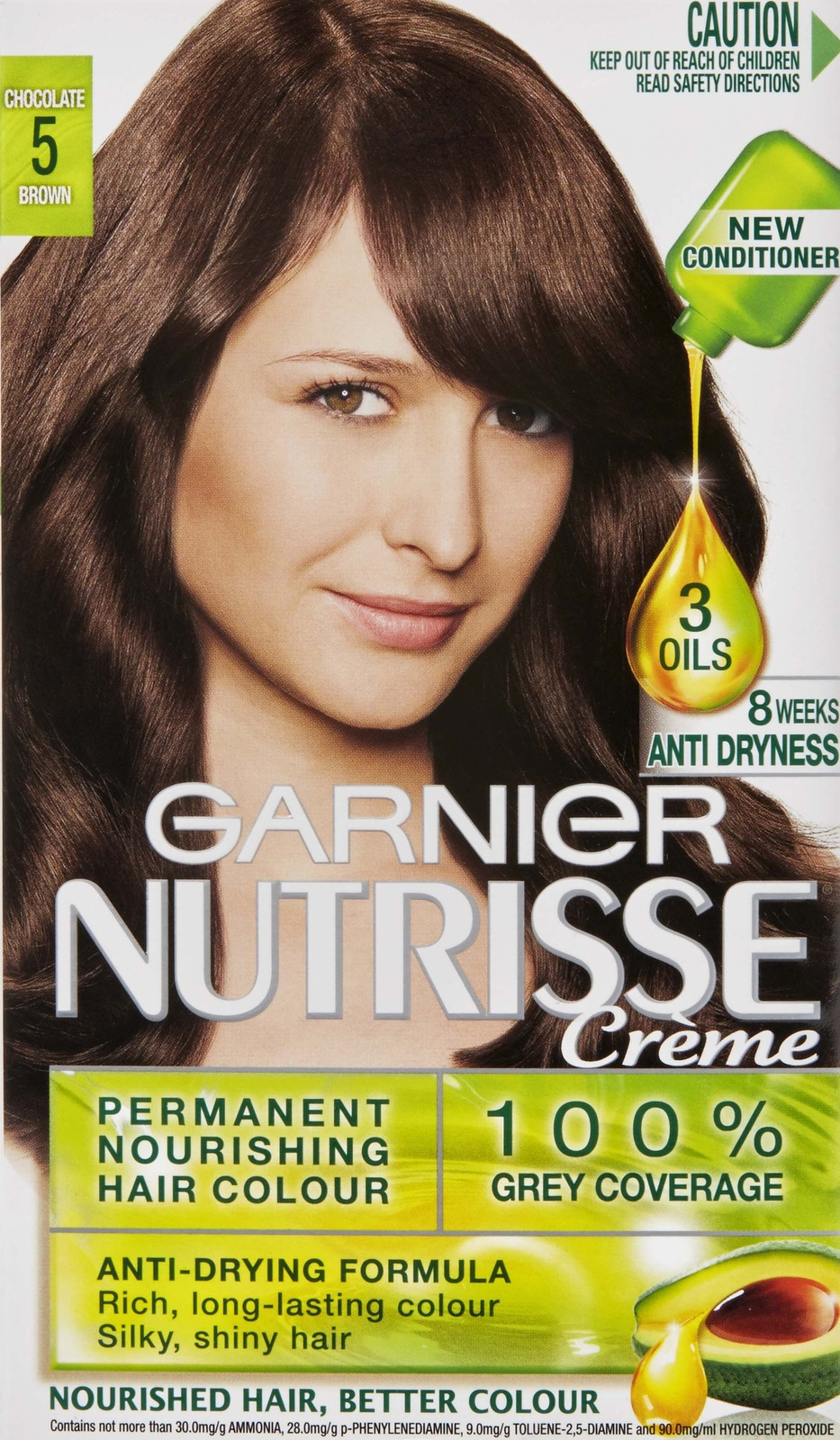 Buy Garnier Nutrisse Hair Colour 5.0 Chocolate Brown at Mighty Ape NZ