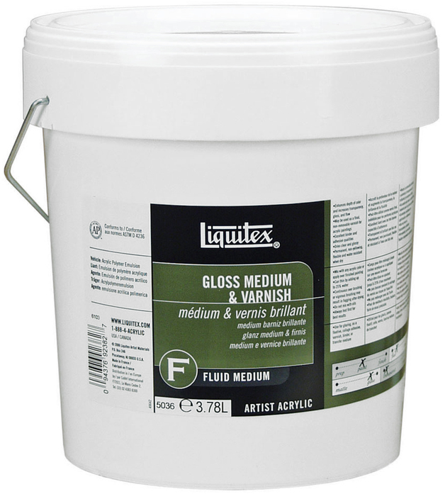 Liquitex: Gloss Fluid Medium & Varnish (3.78l)