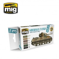 Ammo of Mig Jimenez: USMC Sherman Tanks Colour Set