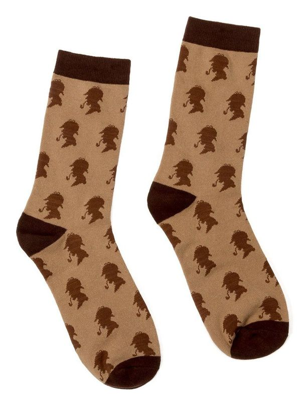 Out of Print: Sherlock Holmes - Men's Crew Socks