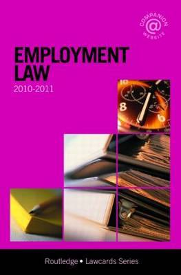 Employment Lawcards: 2010-2011 by Routledge Chapman Hall image