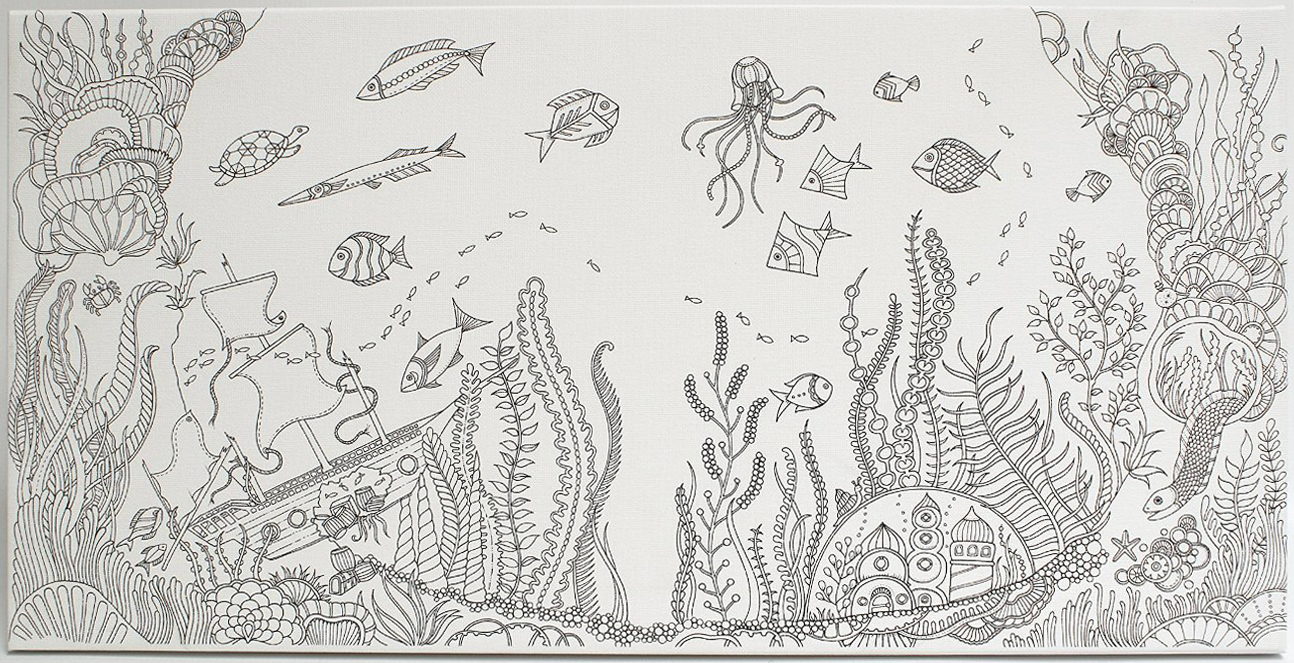 Johanna Basford Canvas 12x24 Lost Ocean
