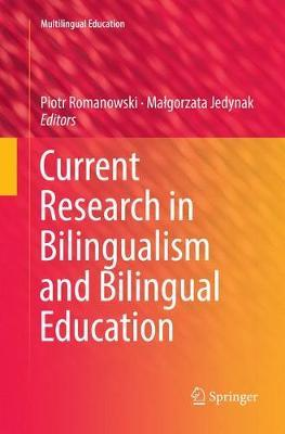 Current Research in Bilingualism and Bilingual Education image