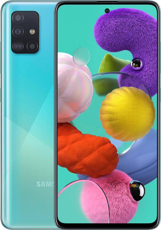 Samsung: Galaxy A51 (128GB/8GB RAM) - Prism Crush Blue