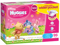Huggies Ultra Dry Nappies: Jumbo Pack - Infant Girl 4-8kg (96) image