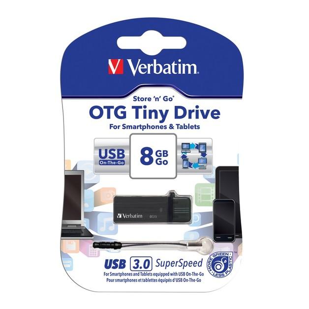 Verbatim Store'n'Go OTG Tiny USB 3.0 Drive - 8GB