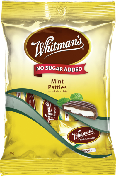 Whitmans No Sugar Added Mint Patties 85g