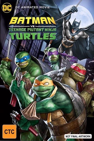 DC Batman vs Ninja Turtles on Blu-ray