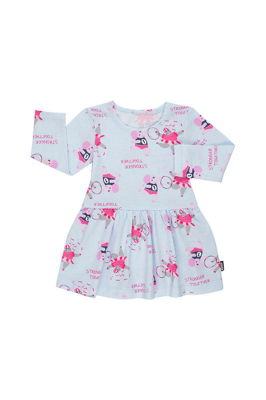 Bonds: Stretchies Ballet Suit Long Sleeve - Stronger Together Little Blue (12-18 Months)